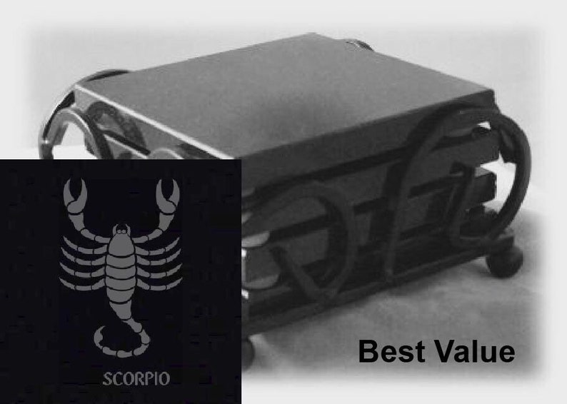Scorpio Drink Coasters Made Out Of Black  Granite or Polished image 0