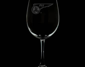 Pan American Airways 13 Ounce Personalized Wine Glass