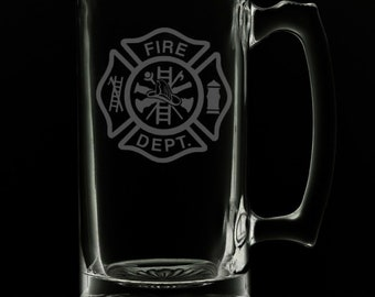 Fire Department 25 Ounce Beer Mug (Also Available in 16oz & 12oz)