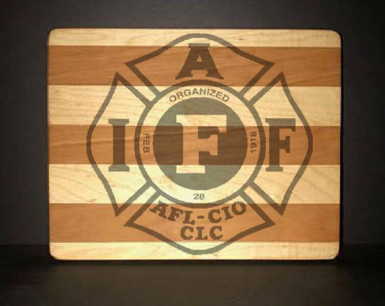 IAFF Cuttingboards Made Out Of Cherry and Maple 8 X10 size image 0