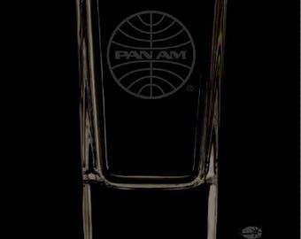 Pan American Airways 2.5 Ounce Personalized Shot Glass