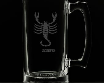 Scorpio 25 Ounce Personalized Beer Mug