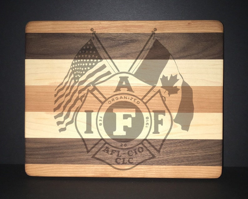 IAFF Cuttingboards Made Out Of Cherry Black Walnut and Maple image 0