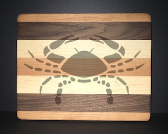 """Cancer 8""""X 10"""" Hand Made Cutting Board (Also Available in 7""""X 9"""" & 12""""X 14"""")"""