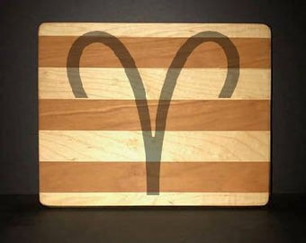 """Aries 8""""X 10"""" Hand Made Cutting Board (Also Available in 7""""X 9"""" & 12""""X 14"""")"""