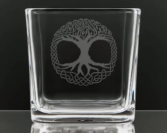 Tree of Life Square Candle