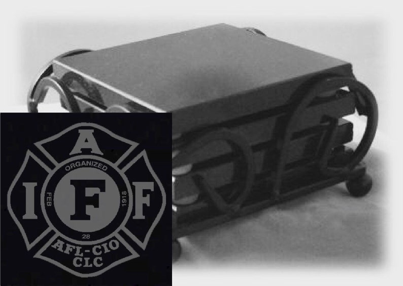 IAFF Drink Coasters Made Out Of Black  Granite or Polished image 0