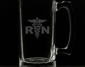 Registered Nurse 25 Ounce Personalized Beer Mug