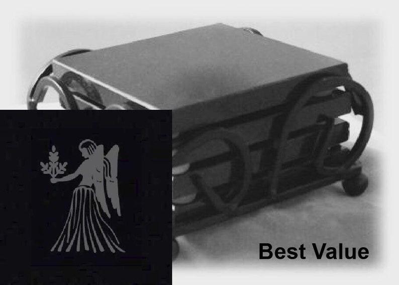 Virgo Drink Coasters Made Out Of Black  Granite or Polished image 0
