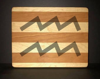 """Aquarius 8""""X 10"""" Hand Made Cutting Board (Also Available in 7""""X 9"""" & 12""""X 14"""")"""