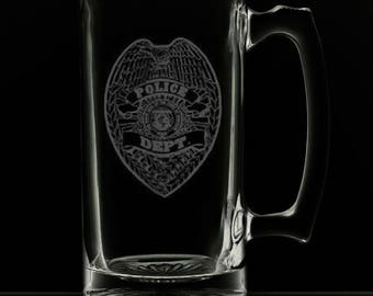 Police Department 25 Ounce Personalized Beer Mug