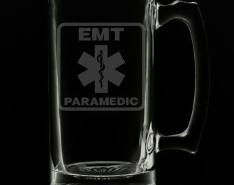 Paramedic 25 Ounce Beer Mug (Also Available in 16oz & 12oz)