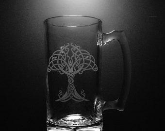 Irish Tree of Life 25 Ounce Beer Mug