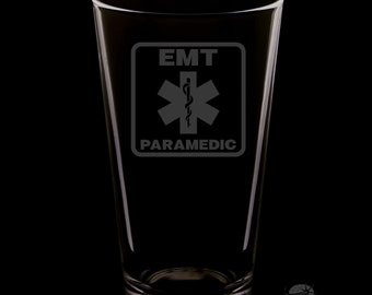 Paramedic 16 Ounce Pint Glass