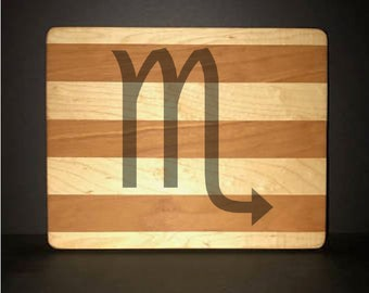 """Scorpio 8""""X 10"""" Hand Made Cutting Board (Also Available in 7""""X 9"""" & 12""""X 14"""")"""