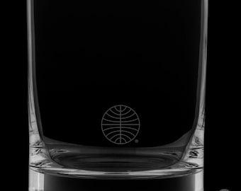 Pan Am 12 Ounce Logo Rocks Glass