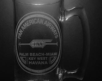 Pan American Airways 1927 Logo 25 Ounce Beer Mug.