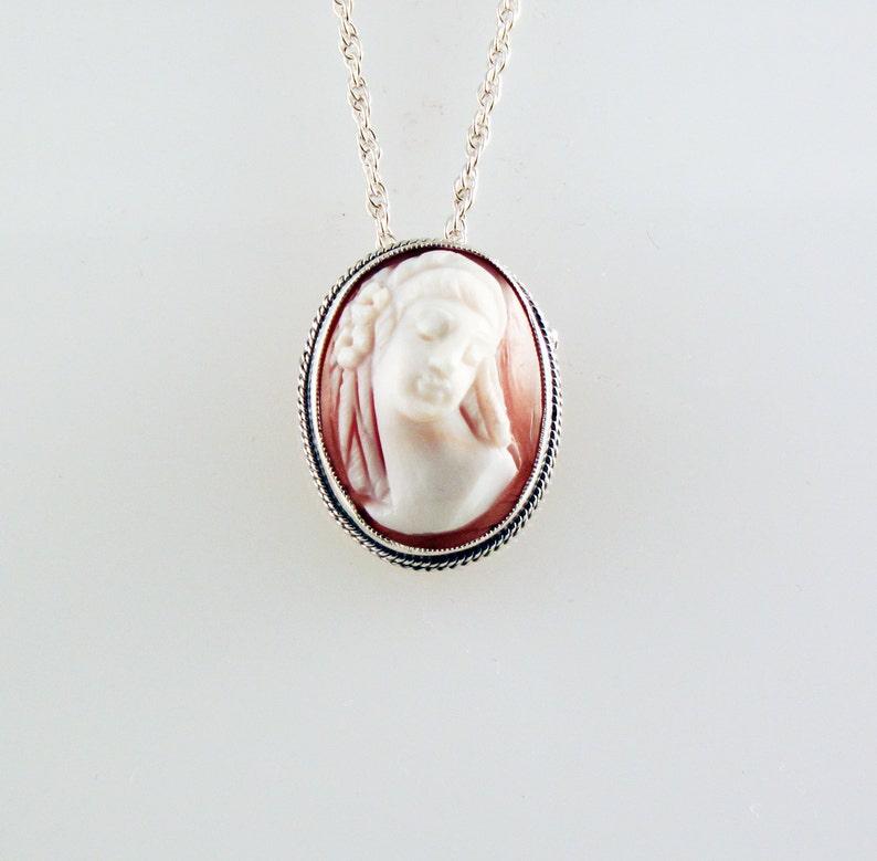 Sweet Dreams Cameo Silver Necklace