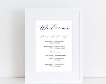 weekend events wedding timeline template wedding itinerary printable welcome itinerary wedding download edit your wedding timeline