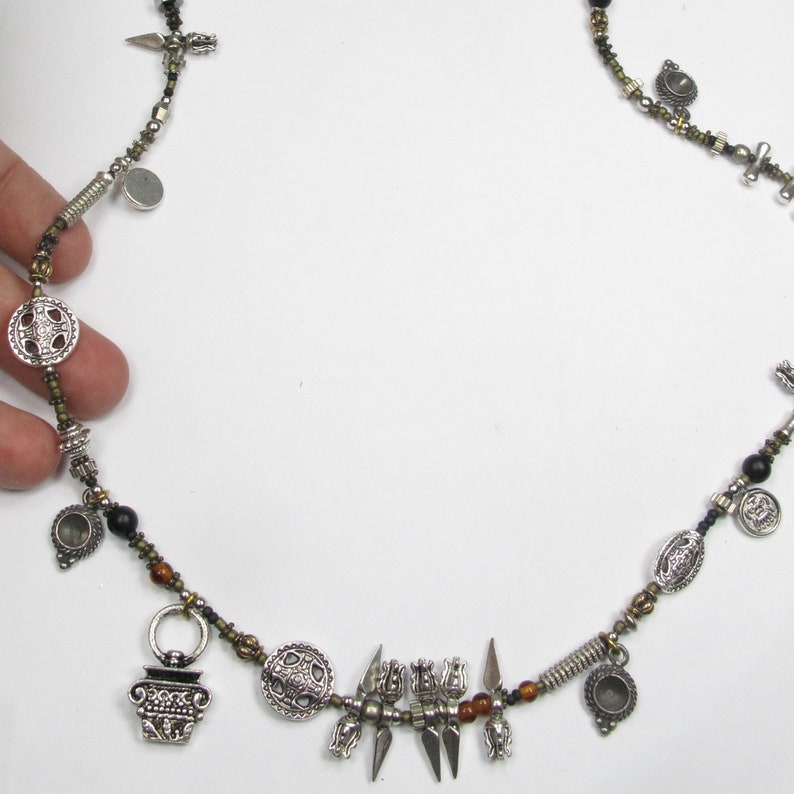 Savage Wise One Inspired Ancient Witch Killer Rogue Warrior Medieval Science Fiction Inspired Necklace