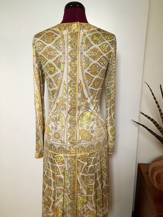 Vintage Psychedelic PUCCI Dress, 70s Pucci Silk D… - image 4