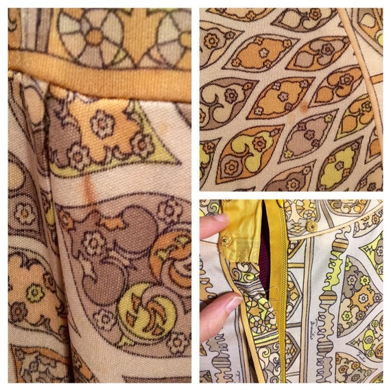 Vintage Psychedelic PUCCI Dress, 70s Pucci Silk D… - image 5