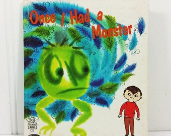 Once I Had a Monster by Ann Hellie, 1969 Whitman Tell a Tale