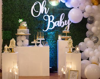 Oh Baby - Wood Backdrop Sign - FREE SHIPPING
