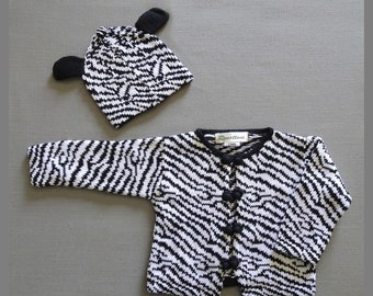 Magnificent Baby Baby-Boys Newborn Hipster Bear Reversible Cardigan