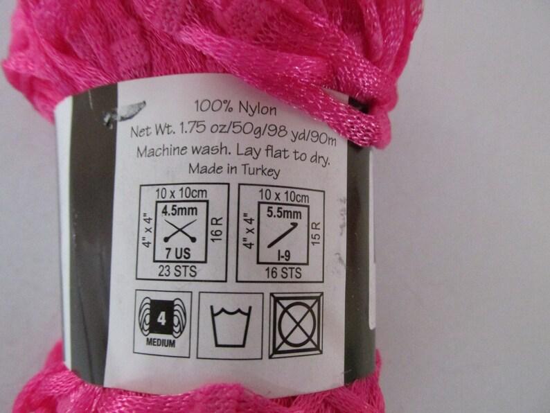 nylon pink ribbon Watermelon Bon Bon Yarn #4 weight Department 71