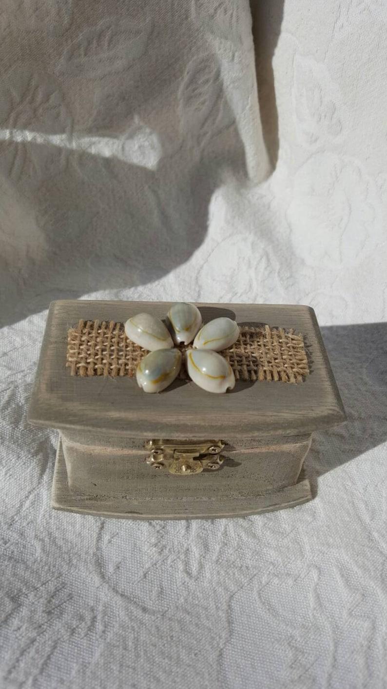 Bohemian wedding Ring Box Rustic Beach Boho Wedding Ring  pillow Alternative trinket or memory box Proposal Engagement Ring Box
