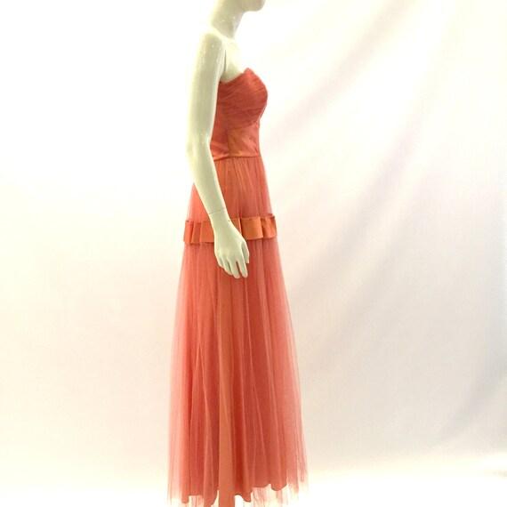 Vintage Prom Dress 1950s Prom Dress Strapless Dre… - image 3