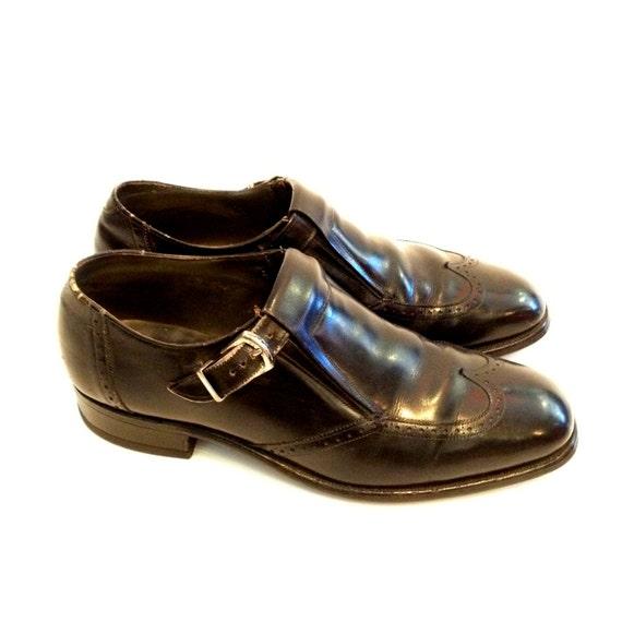 Vintage Loafers Mens Loafers Black Leather Loafer… - image 3