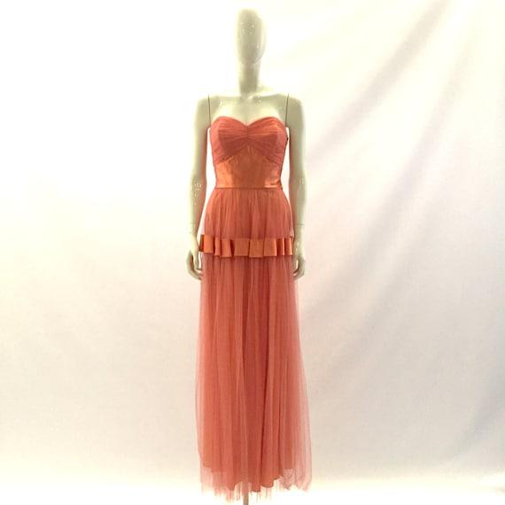 Vintage Prom Dress 1950s Prom Dress Strapless Dre… - image 1