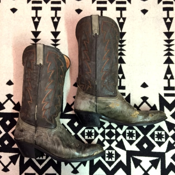 Vintage Cowboy Boots Mens Cowboy Boots Size 10 D B