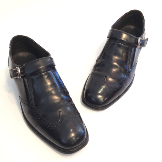 Vintage Loafers Mens Loafers Black Leather Loafers