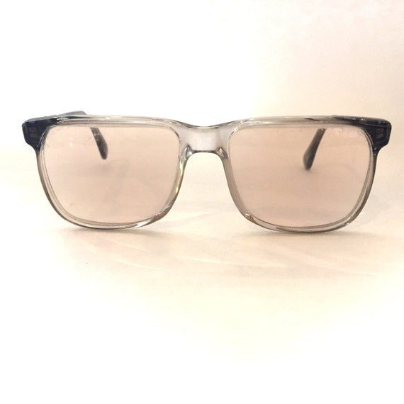 Vintage glasses Clear glasses Plastic Glasses Squa