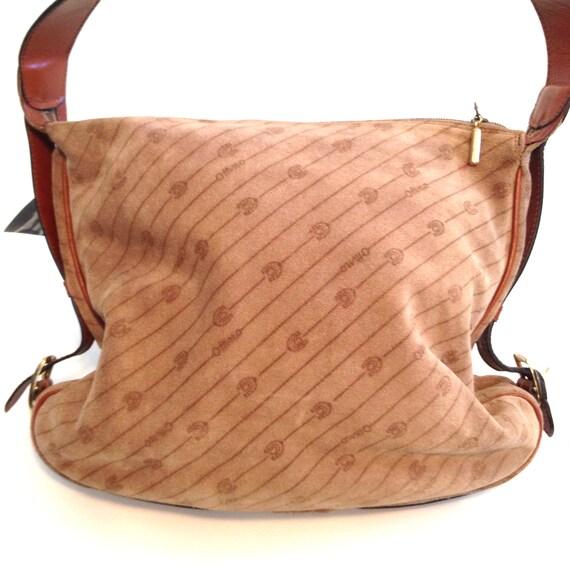 Vintage purse Tan purse Brown purse Italian leathe
