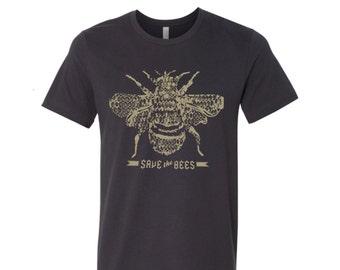 Mens SAVE The BEES T Shirt s m l xl xxl (+ Color Options) custom
