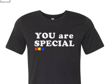 5635d060 Mens YOU are SPECIAL T-Shirt custom color printed tee California 3001CVC  Bella Canvas. $24.00 FREE shipping