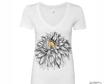 Women's BEE BUTT - Lightweight Deep V Neck Tee [+Colors] s m l xl xxl custom