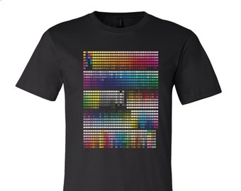 67389e7ed Mens PANTONE Color Chart T-Shirt custom color printed tee California  3001CVC Bella Canvas