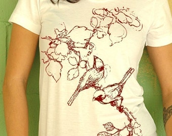 Womens JAPAN INK T-Shirt american apparel S M L XL (15 Colors Available)