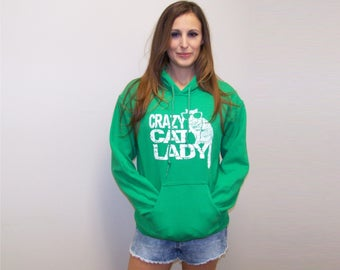 Cat shirt, Womens Sweatshirt, cats, cat lover gift, slouchy pullover hoodie, funny shirt, gift for her, crazy cat lady, cat clothing, RCTees