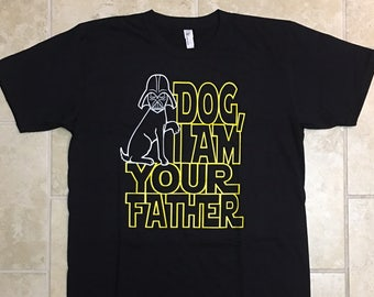 Mens Clothing, Funny tshirts Dog I am Your Father T-shirt Tshirt Tee Shirt for Dad Boyfriend Star Wars Parody Dog Lover Gift For Him