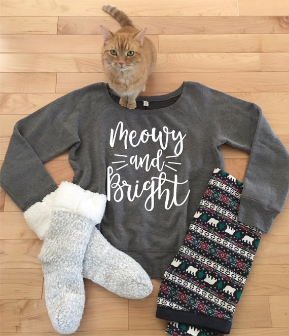 d75b1f6b3d2e1 Holiday Sweater Meowy and Bright Christmas Sweater Off