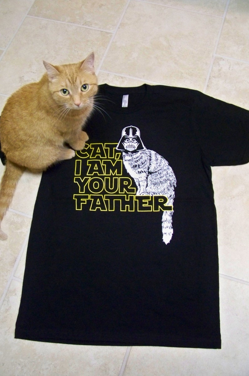 99810659 Cat shirt Cat Dad Star Wars I Am Your Father t shirt | Etsy