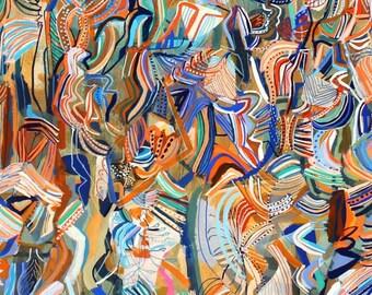 "Lake Scioto- original painting 36"" x 36"""