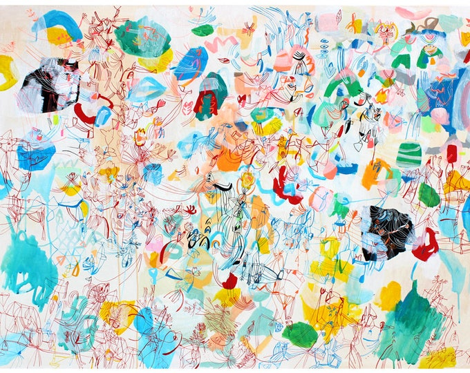 Featured listing image: Paris Market - Large Scale Print