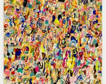 """Hawthorne Place - original gouache painting 60"""" x 48"""""""